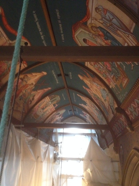 Lime plasterwork to Greek Othodox Church