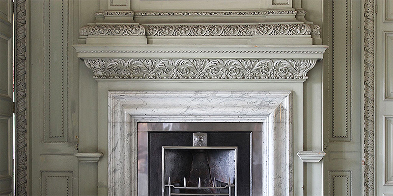 Scagliola Marble Fireplace Overmantel