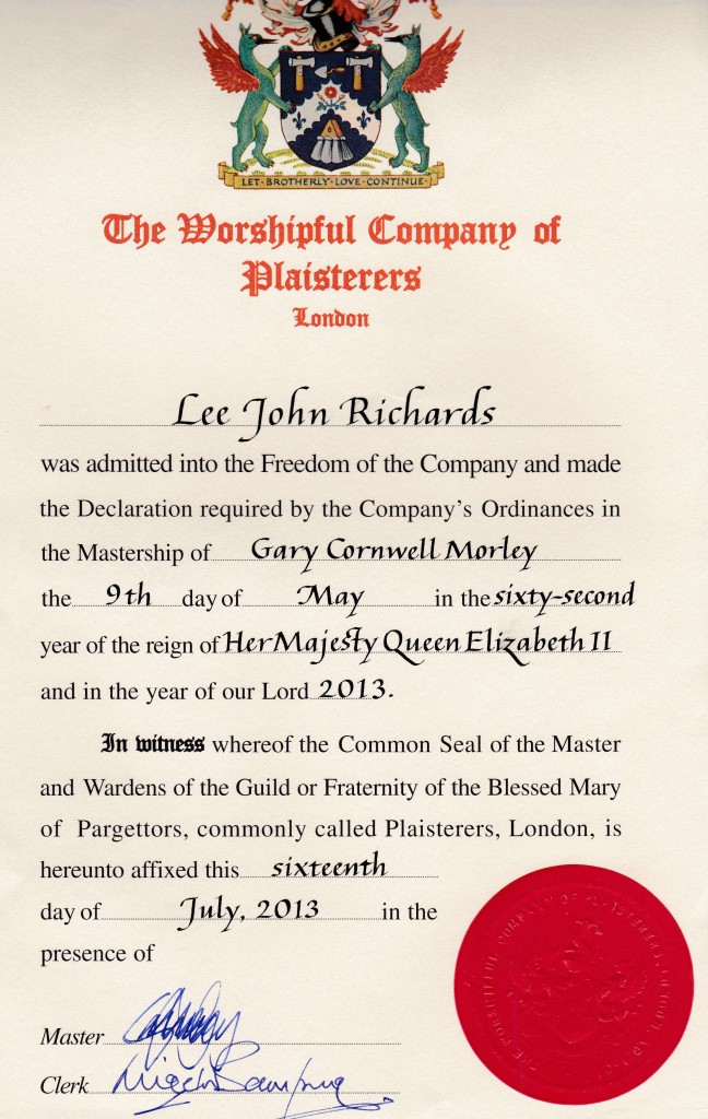 The Worshipful Company of Plasterers